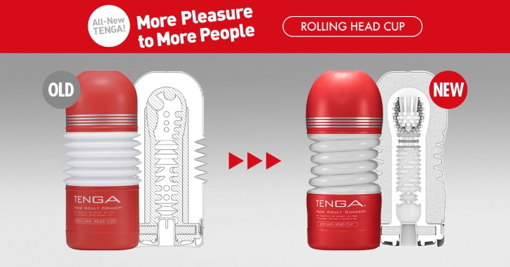 New TENGA CUP Series Launches Rolling Head CUP